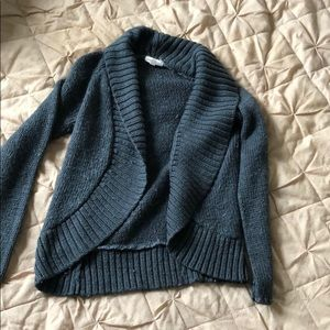 Silence and Noice Grey Cable Sweater